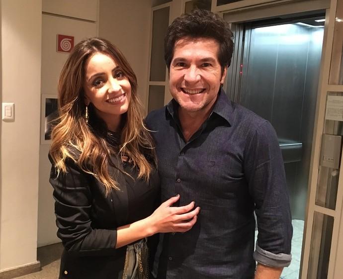 Nos bastidores, a cantora foi elogiada por Daniel (Foto: Aline Nunes/ Gshow)